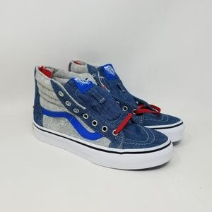 Vans Sk8-Hi Zip Jersey & Denim Sneakers Kid's 3